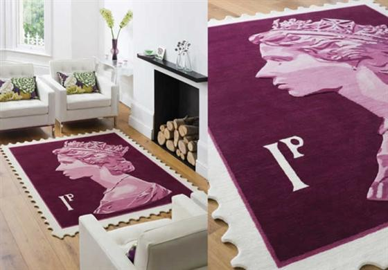 Unique-Queen-Elizabeth-II-on-Rugs-Decorating-with-violet-color