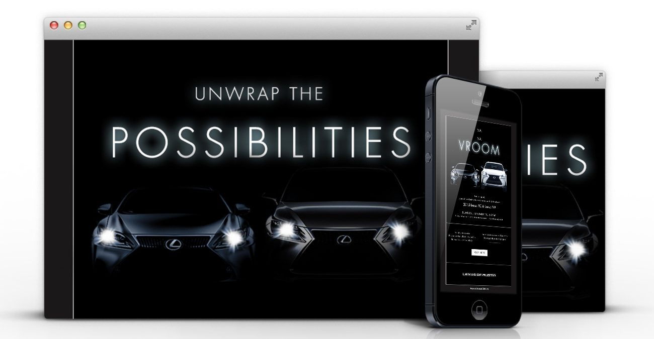 Lexus: Website/mobile mockup