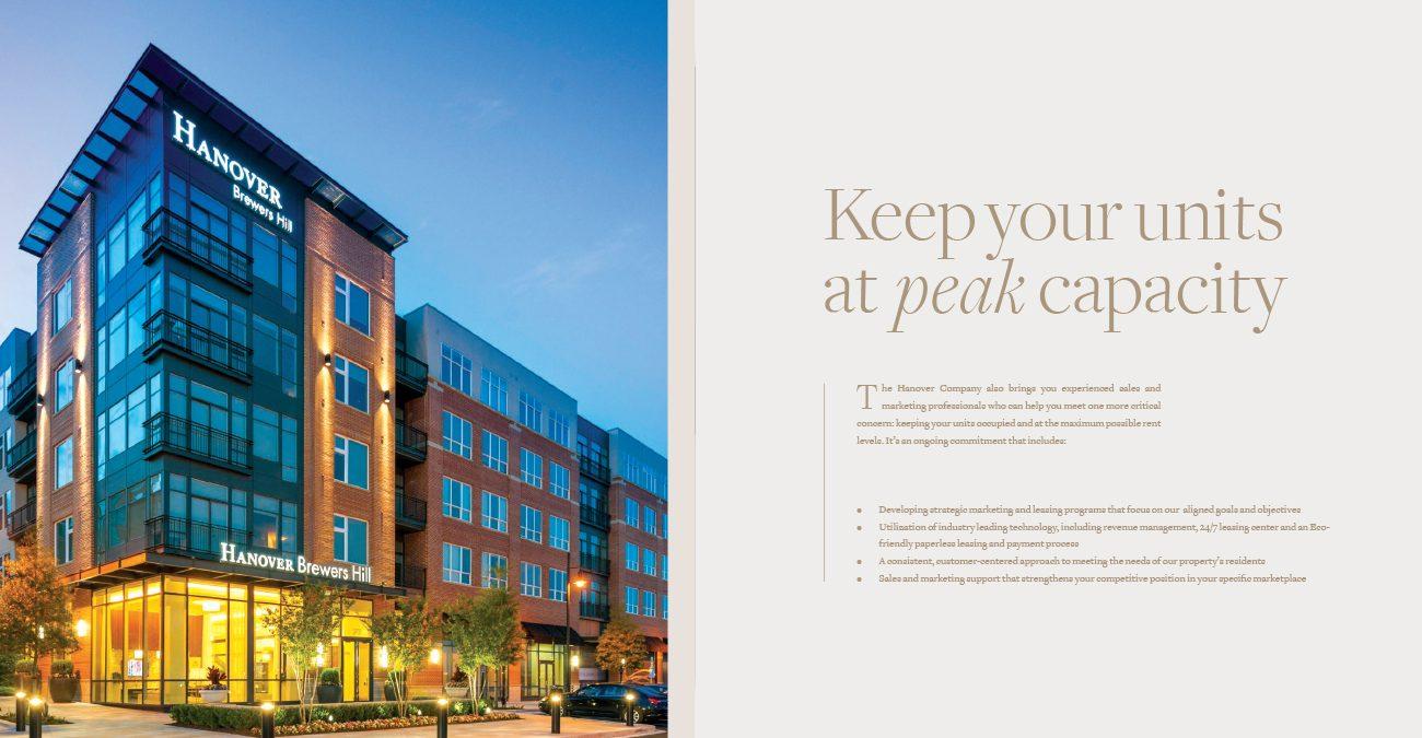 Hanover: Brochure copy/layout