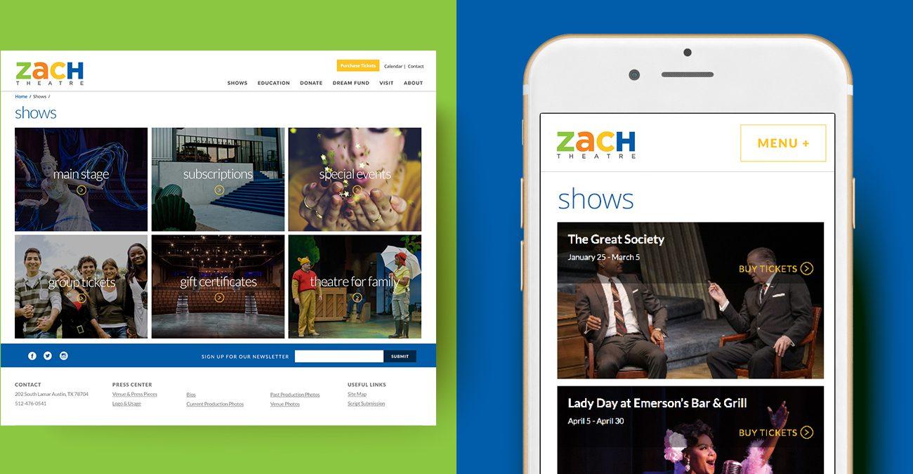 ZACH Theatre Website 1