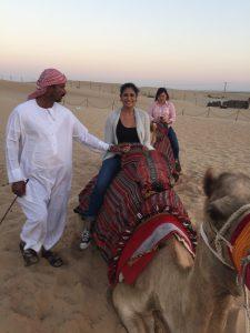 Maxine Eiland riding camel